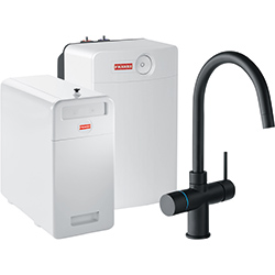 Perfect5 Chilled-Pro | Minerva COMBI XL | Black | Kokend & gefilterd waterkranen