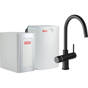 Perfect4 Chilled | Minerva COMBI XL | Black | Kokend & gefilterd waterkranen