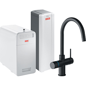 Perfect5 Chilled-Pro | Minerva COMBI S | Black | Kokend & gefilterd waterkranen