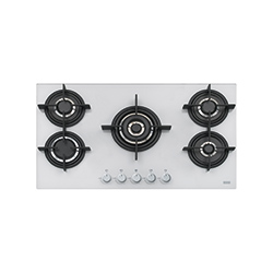 New Crystal | FHCR 905 4G TC HE WH C | Glass White | Built in Hobs