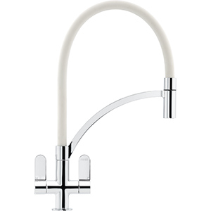 Zelus | Pull Out Nozzle | Chrome-White | Taps