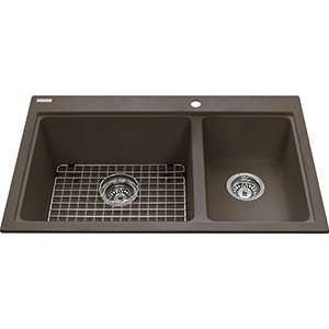 Kindred Sanitized Granite | KGDC2031R-8SM | Granite Storm | Sinks
