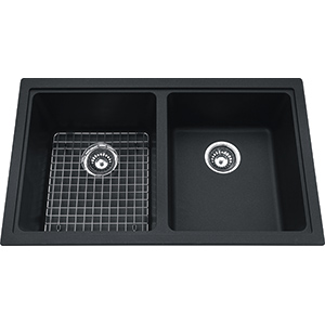 Kindred Sanitized Granite | KGD2U-9ON | Granite Onyx | Sinks