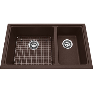 Kindred Sanitized Granite | KGDCR1U-8ES | Granite Espresso | Sinks