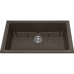 Kindred Sanitized Granite | KGS1U-8SM | Granite Storm | Sinks