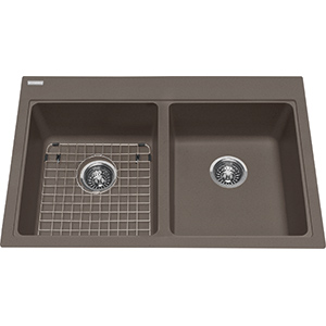 Kindred Sanitized Granite | KGDL2233-9SM | Granite Storm | Sinks