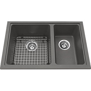 Kindred Sanitized Granite | KGDC2RU-8SG | Granite Shadow Grey | Sinks