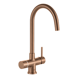 Minerva Electronic 4-in-1 Tap | Minerva Helix | Industrial Copper | Instant boiling water taps