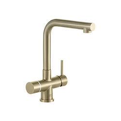 Minerva Electronic 4-in-1 Tap | Minerva Mondial | Industrial Gold | Instant boiling water taps