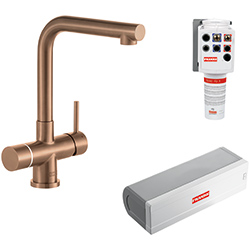 Minerva Electronic 4-in-1 Tap | Minerva Mondial | Industrial Copper | Instant boiling water taps