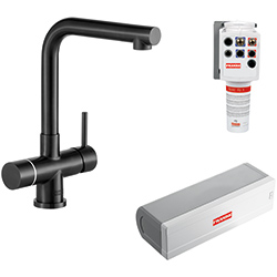 Minerva Electronic 4-in-1 Tap | Minerva Mondial | Industrial Black | Instant boiling water taps