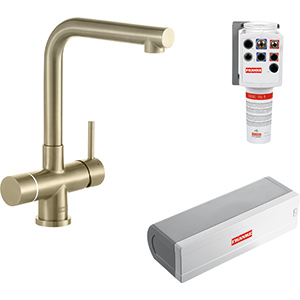 Minerva Electronic 4-in-1 Tap   Minerva Mondial   Industrial Gold   Instant boiling water taps