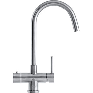 3-in-1 Tap   Minerva Helix   Stainless Steel   Instant boiling water taps