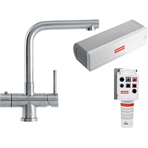 3-in-1 Tap | Minerva Mondial | Stainless Steel | Instant boiling water taps